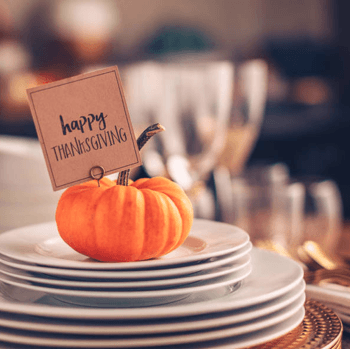 a Happy Thanksgiving place setting