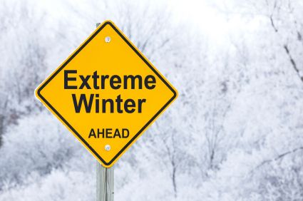 yellow extreme winter sign